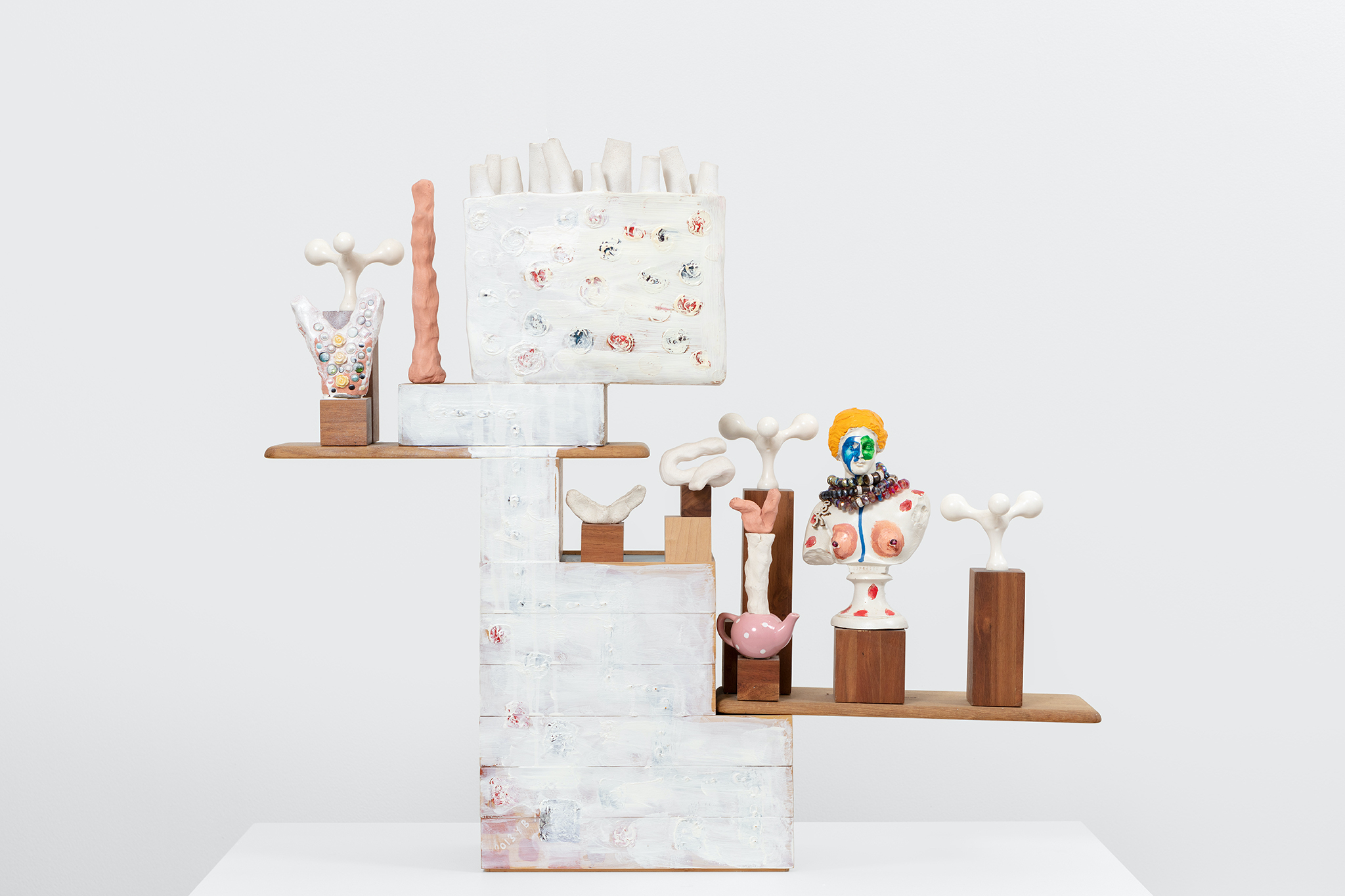 Yngve Benum, Handkerchief, 2014, mixed media sculpture, 83 x 85 x 16 cm