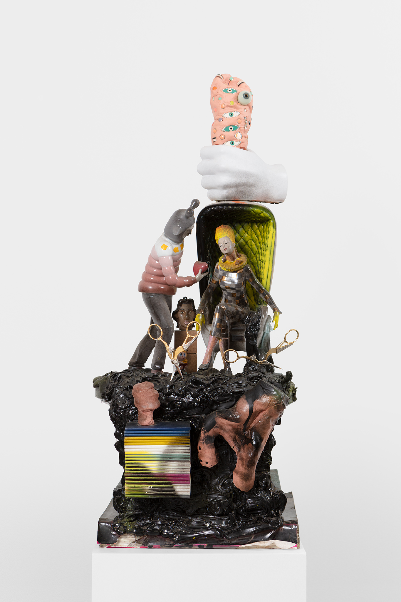 Yngve Benum, Tongue-in-cheek, 2015, mixed media sculpture, 82 x 40 x 36 cm