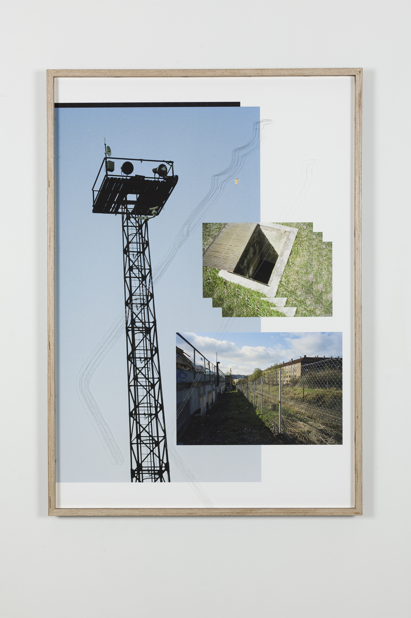Jon Benjamin Tallerås, Untitled (Lock Picking is Key) I, 2019, inkjet print, scratched ar-glass, artist made frame, 63 x 90 cm, unique