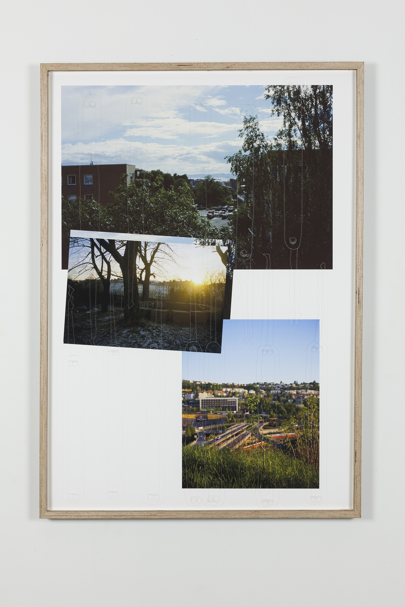 Jon Benjamin Tallerås, Untitled (Lock Picking is Key) III, 2019, inkjet print, scratched ar-glass, artist made frame, 63 x 90 cm, unique