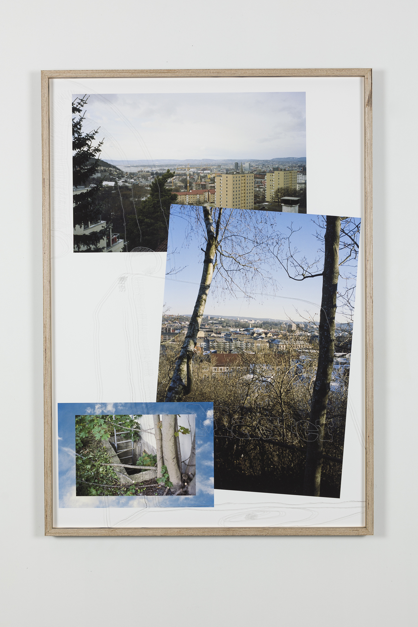 Jon Benjamin Tallerås, Untitled (Lock Picking is Key) IV, 2019, inkjet print, scratched ar-glass, artist made frame, 63 x 90 cm, unique