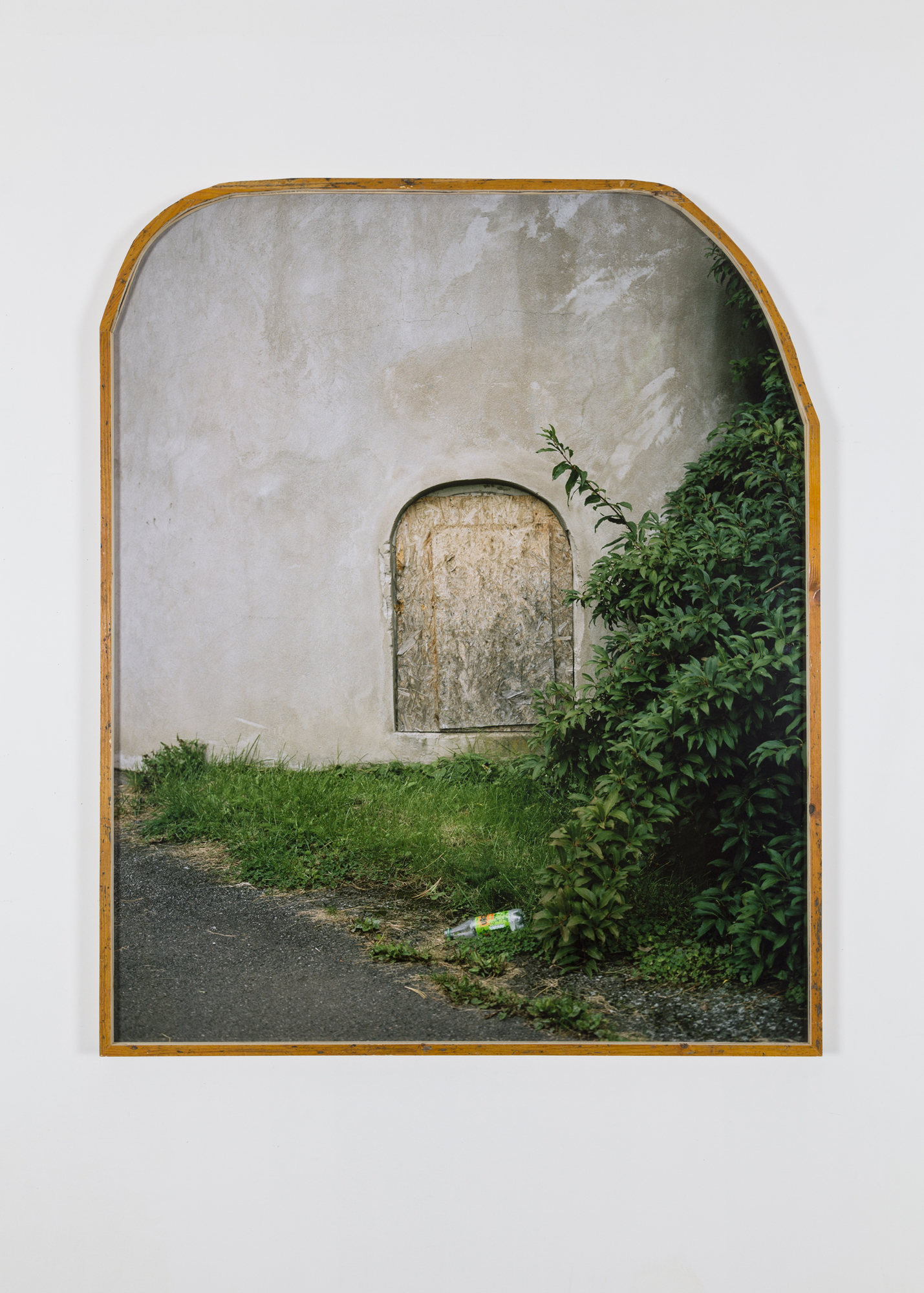 Jon Benjamin Tallerås, Window Sealed Shut #3, 2019, Inkjetprint, ar-glass, artist made frames, 119,5 x 99,5 x 3,5 cm, Unique